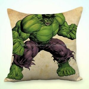 Hulk pillowcase superhero comic Vintage Incredible Hulk pillowcase bedding Hulk cartoon