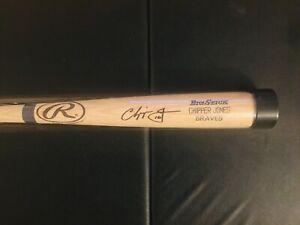 Chipper Jones Signed Autograph Player/Game Issued, Baseball Bat, 1999 MVP Season