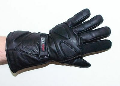 Men/'s Motorcycle Cruiser Bikers ATV Genuine Leather Thinsulate Gloves Gauntlets