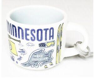 NWT STARBUCK'S Minnesota MN Been There Series 2oz. Mini Mug Christmas Ornament