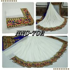 Designer Exclusive Bordered Partywear Saree Fabric Georgette sari Blouse Sari