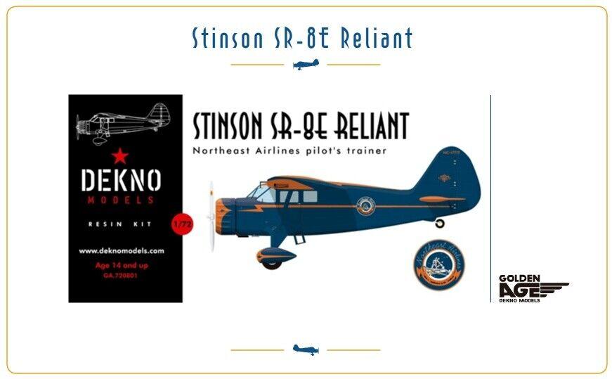 Stinson sr-8e reliant-northeast airlines-dekno models - 1 72 - resin kit