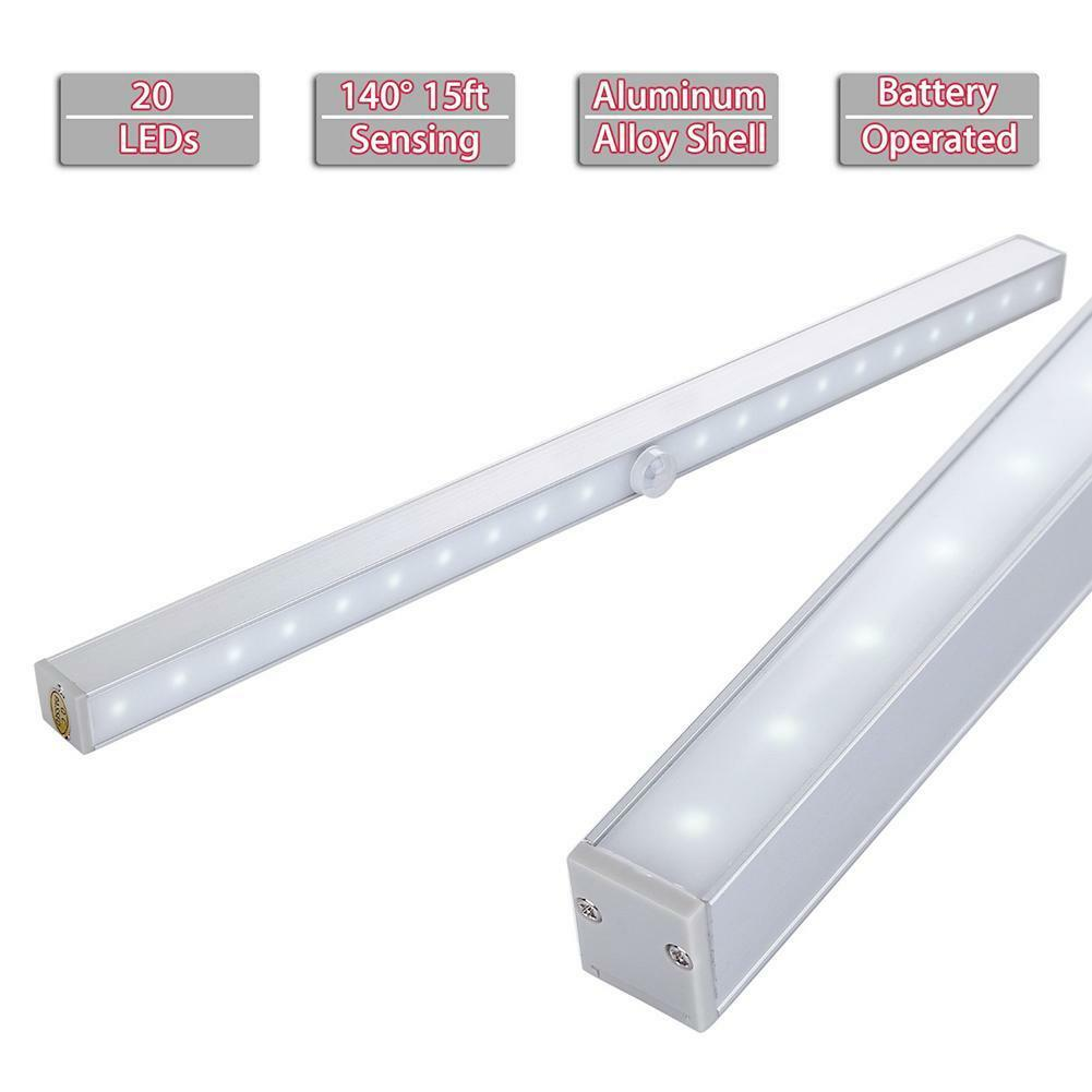 20 led wireless motion sensing closet led tube strip under cabinet light ebay. Black Bedroom Furniture Sets. Home Design Ideas