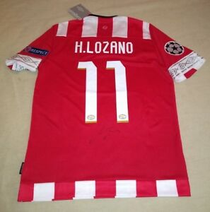 new styles 9c637 a373a Details about HIRVING CHUCKY LOZANO hand signed autographed PSV Eindhoven  Jersey PROOF Mexico