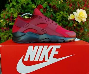 BNWB-amp-Authentic-Nike-Air-Huarache-Run-Ultra-Tough-Red-Trainers-UK-Size-10