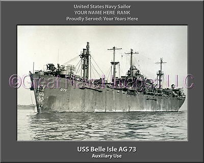 USS Isle Royale AD 29 Personalized Canvas Ship Photo Print Navy Veteran Gift