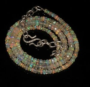 100-Natural-Ethiopian-Fire-Opal-Faceted-Roundel-Beads-Necklace-Opal-strand