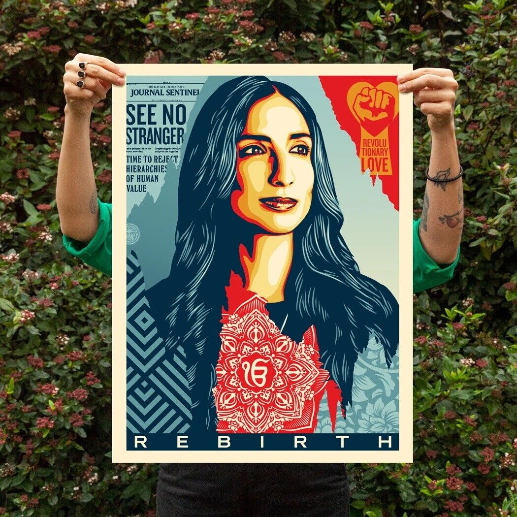 Shepard Fairey Rebirth Signed And Numbered Print Obey Giant X/450 Amplifier Art on eBay thumbnail