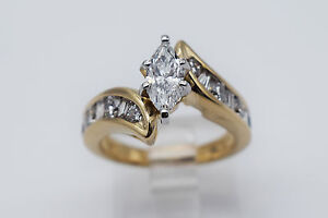 14K-Yellow-Gold-Adorable-1-50-Ct-Diamonds-Lady-Ring-Band-Size-5-5-1326