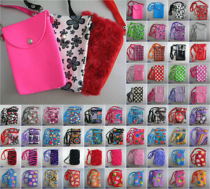 Mobile-Phone-Bag-with-Shoulder-Strap-case-cover-holder-sock-pouch-skin-sleeve