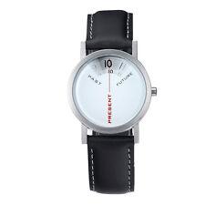"""Projects Watches """"Past, Present, Future"""" Acier Quartz Cuir Femme Montre Blanc"""