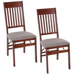 mission wood folding chair 2 pack ebay