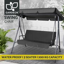 Gardeon Outdoor Furniture Swing Chair Hammock 3 Seater Garden Bench Seat Canopy