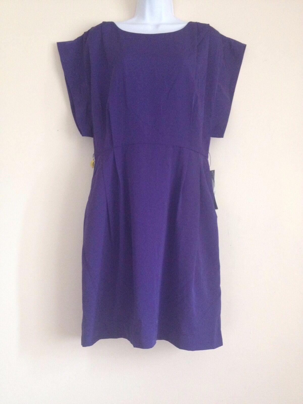 Eliza J Drape Sleeve Sash Belt Dress, lila- Größe 12
