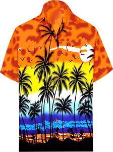 "Leela likre Urlaub Camp Kleid Party Shirt orange 259 XL   Brustumfang 48"" - 52"""