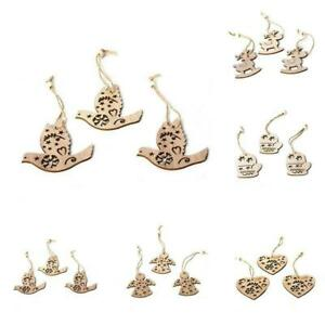 3PC-Christmas-Snowflakes-Wooden-Pendants-Xmas-Tree-Ornaments-Decor-Hanging-C0L0