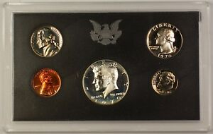 1970-US-Mint-5-Coin-Proof-Set-with-40-Silver-Kennedy-Half-as-Issued