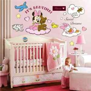 minnie maus disney wandtattoo wandsticker xxl 110cm x 80cm mickey mouse mq011 ebay. Black Bedroom Furniture Sets. Home Design Ideas