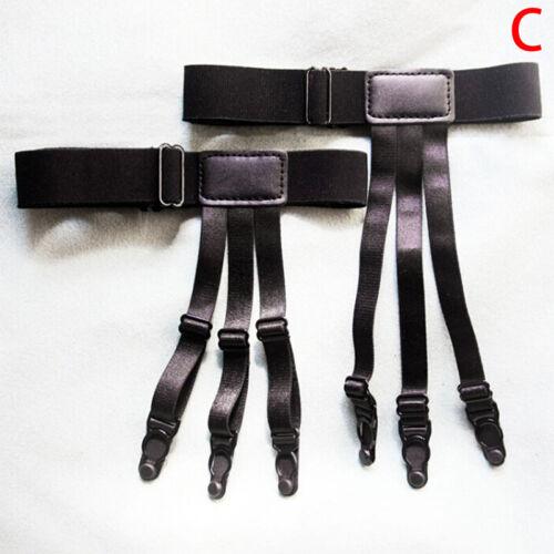 Adjustable Shirt Holder Stay Elastic Men Suspender/' Leg Braces Uniform SuspenLTA