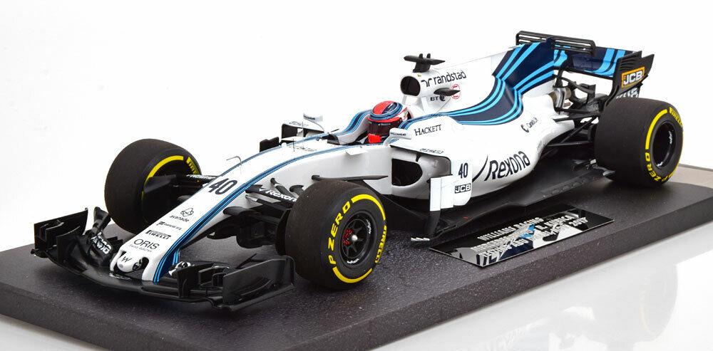 Minichamps Williams FW40 Mkonstini GP Abu Dhabi 2017 Test bil Kubica  18 New