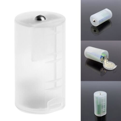 4PCS 2 AA To D Size Battery Holder Converter Adapter Switcher Case Box Plastic