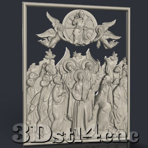 3D-STL-Model-for-CNC-Router-Carving-Machine-Religion-Relief-Artcam-aspire-Cut3D