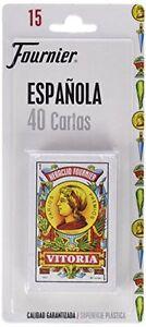 BARAJA-DE-CARTAS-ESPANOLA-FOURNIER-Plasticas-ORIGINAL-40-NAIPES-Envio-Espana