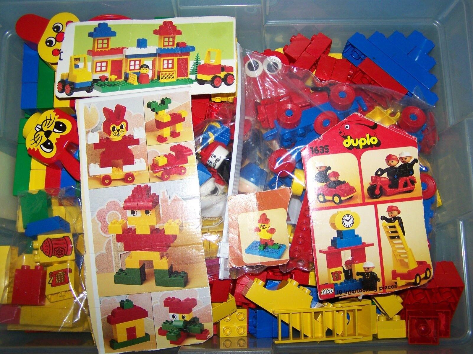 LEGO  DUPLO BUILDING BLOCKS 325 Pieces - 11 1 2  Vehicles, speziellty pieces VGC
