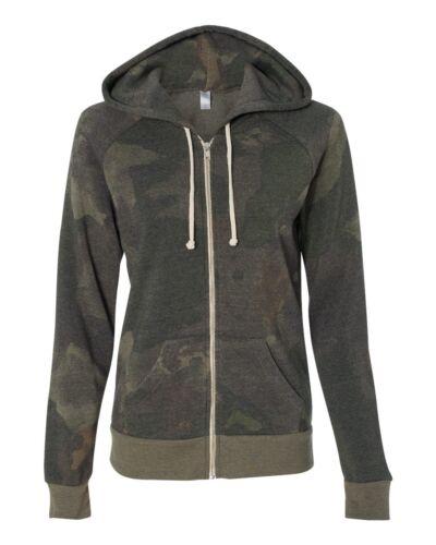 9573 SALE New Alternative Ladies/' Eco-Fleece Adrian Full-Zip Hooded Sweatshirt