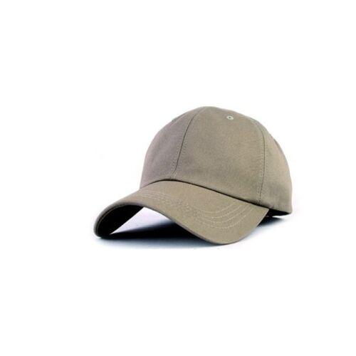 Unisex Mens Womens Solid 13 Color Plain Baseball Cap Adjustable Trucker Hats