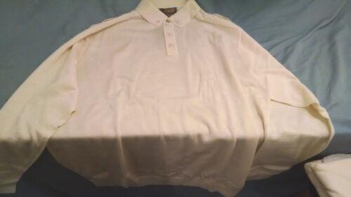 NWT Venezzi Mens Long Sleeve Off White Wool Blend Collared Sweater Sz 4XL