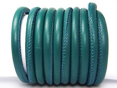 Weiches Nappaleder, rund gesäumt, 6 mm, petrol, 20 cm (10,00€/m); *2617