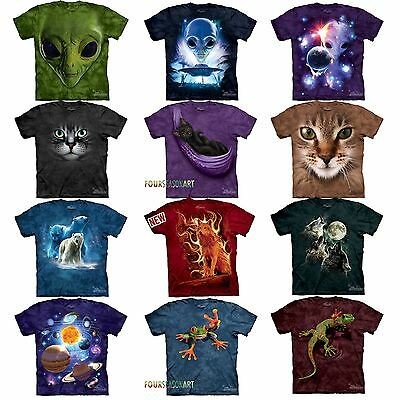 04c0bcca9799 Details about Mountain Big Animal Face Cat Wolf Frog Green Alien Origins T  Shirt 16 ON SALE!!!
