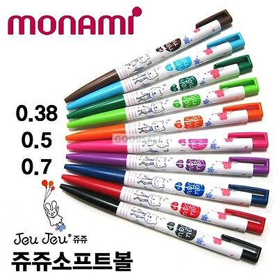 MONAMI Jeu Jeu Ball Point Pens 0.38mm  (Choose 5 colors)