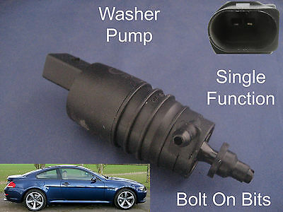 Front Windscreen Washer Pump BMW 6 Series E63 2004 to 2010 630i 635d 650i M6