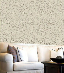 Image Is Loading Lily Scroll Allover Stencil Reusable Wall Stencils For