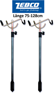 75-128cm. 2x Zebco Klapprutenhalter Rutenhalter Rutenständer Erdspeer
