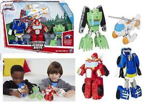 Playskool Transformers Rescue Bots Boulder Blades Police Heatwave Ages 3 New Toy