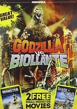Godzilla vs. Biollante DVD NEW! RARE, OUT-OF-PRINT! USA RELEASE! +2 BONUS MOVIES