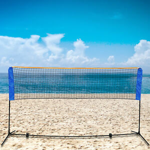10-Feet-Portable-Badminton-Volleyball-Tennis-Net-Set-with-Stand-Frame-Carry-Bag