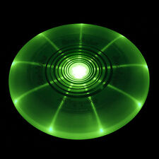 GREEN LED LIGHT UP NIGHT FRISBEE DISC BEACH BBQ POOL PARTY CONCERT SUMMER FUN