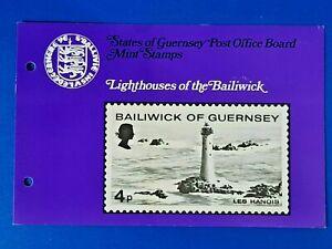GB Guernsey Set of 4 Mint Stamps Presentation Pack 1976 Lighthouses