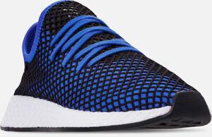 888ab95c03608 Men s Adidas Deerupt Runner Running Shoes Hi Res Blue   Black Sz 9 ...