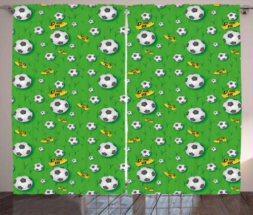 Sports Theme Curtains 2 Panel Set Decor 5 Sizes Available Window Drapes