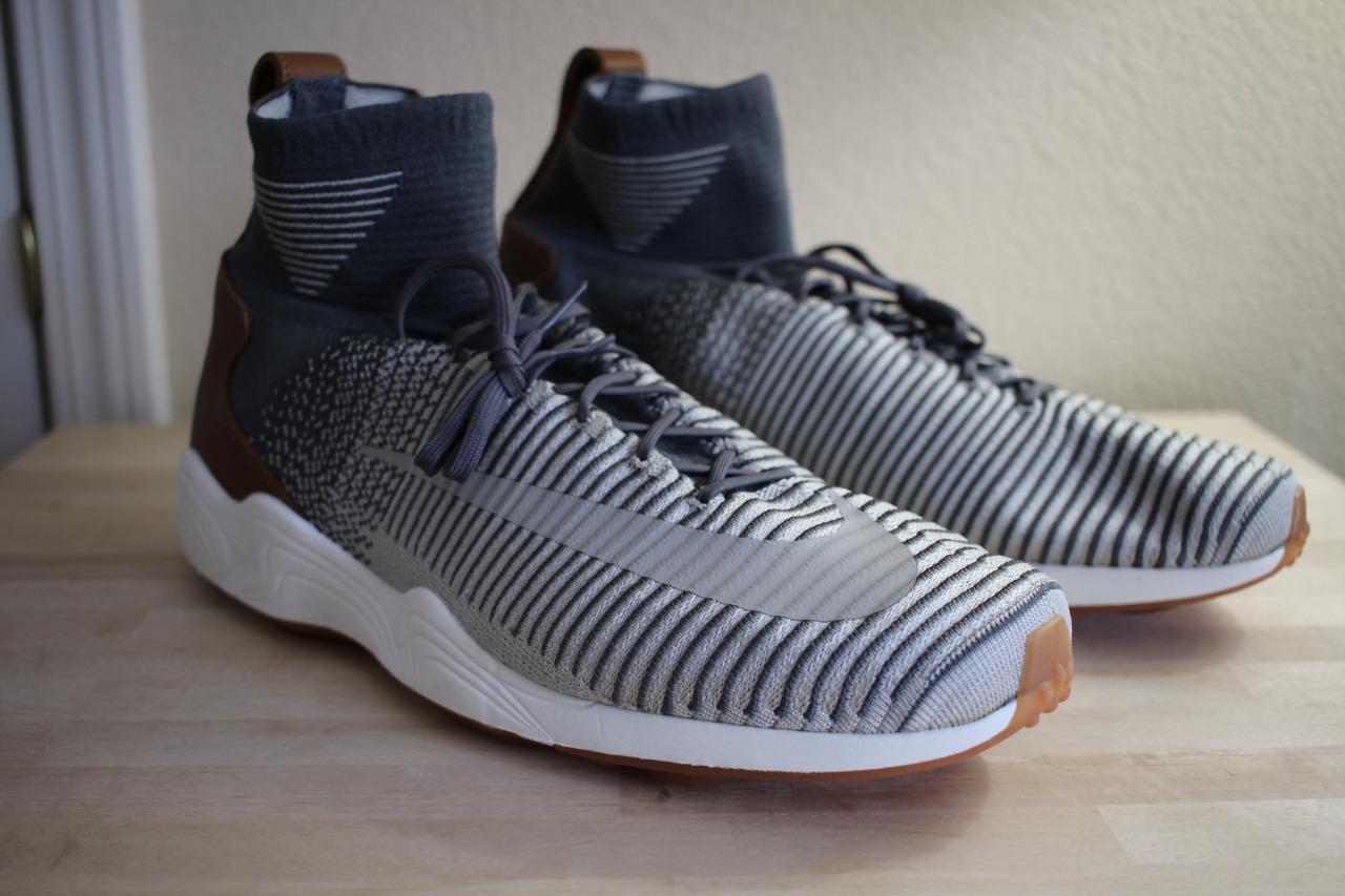 newest 9eaa5 67b6d Nike Zoom mercurial XI FK Flyknit gris gris gris oscuro Marrón Blanco  844626-003 Hombre Casual salvaje 12 nuevo adfa1a