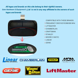 Details about  /Multi Frequency Rolling Code Remote Genie//Liftmaster//Linear//Stanley 300//310//315