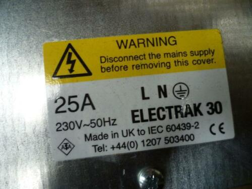 ELECTRAK 30 Feed Unit BBA14LF Busbar Trunking 25A 2P E Suspended Right End Stop
