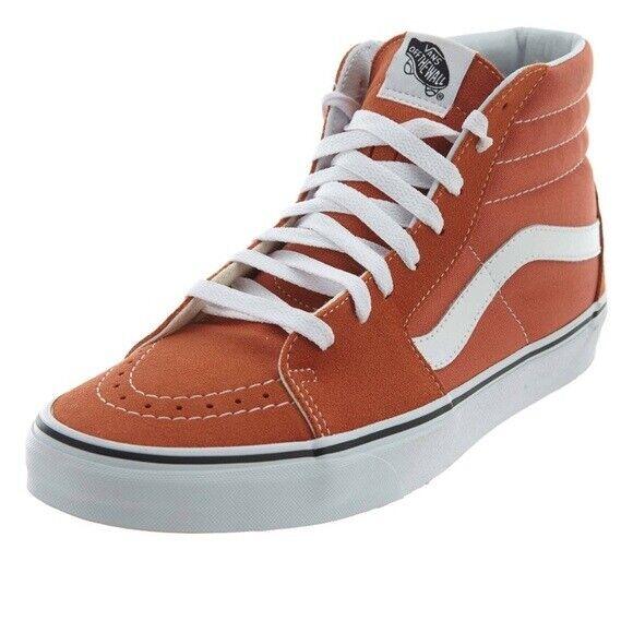 Vans SK8-hi shoes sneaker orange autumn glaze suede canvas  MEN SIZe 13 new