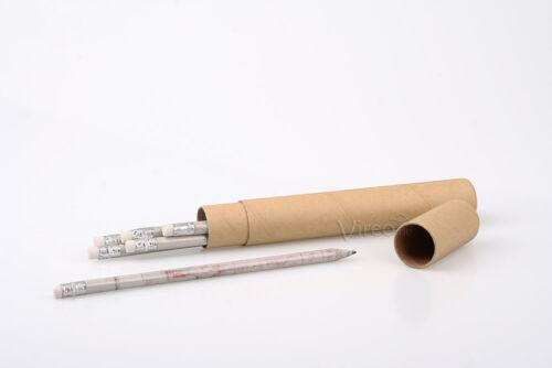 6 Bleistifte aus Zeitungspapier  ökologisch recycelt