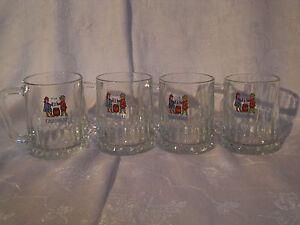 Cardinal Brauerei(Schweiz)Glas 4Stk Bierkrüge blaue Schrift Blau/Rot Männeln 0,2 - Rheinfelden, Deutschland - Cardinal Brauerei(Schweiz)Glas 4Stk Bierkrüge blaue Schrift Blau/Rot Männeln 0,2 - Rheinfelden, Deutschland